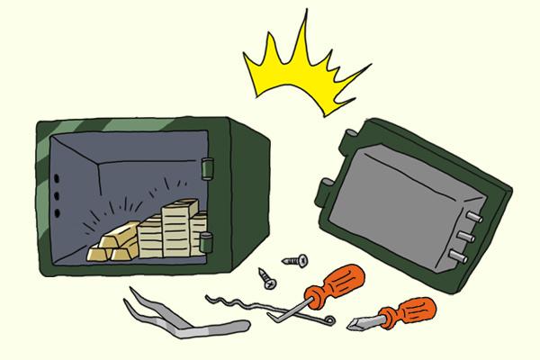 イメージ:金庫が開いてしまう